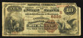 National Bank Notes:Virginia, Richmond, VA - $10 1882 Brown Back Fr. 490 The American NB Ch. #(S)5229. ...