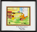 Animation Art:Production Cel, Garfield and Friends Garfield and Odie Production Cel SetupAnimation Art (Film Roman, 1988)....