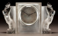 Art Glass:Lalique, R. LALIQUE CLEAR AND FROSTED GLASS DEUX COQS CLOCK. Circa1929. Wheel-cut R. LALIQUE, FRANCE. M p. 372, No. 73...
