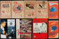 Autographs:Others, 1934-73 Signed & Unsigned New York Yankees & BrooklynDodgers Programs/Scorecards Lot of 9....
