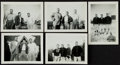 Football Collectibles:Photos, 1940's Green Bay Packers at Rockwood Lodge Original Photograph Snap Shots Lot of 5....