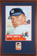 Baseball Collectibles:Others, 1990's Mickey Mantle Original Oil Painting by Gerry Dvorak....