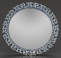 AN UNGER BROTHERS SILVER PICTURE FRAME, Newark, New Jersey, circa 1900 Marks: UB (interlaced