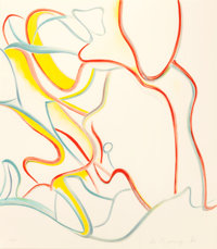WILLEM DE KOONING (American, 1904-1997) Quatres Lithographies (four works), 1986 Lithographs in colo
