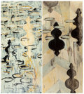 SYDNEY PHILEN YEAGER (American, 20th Century) Both, 1996 Oil on canvas Diptych: Each element 66 x