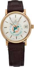 Football Collectibles:Others, 1972-73 Miami Dolphins Back-to-Back World Championships Wristwatch Presented to Bob Halloran....