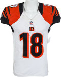 Football Collectibles:Uniforms, 2012 A.J. Green Game Worn, Unwashed Cincinnati Bengals Jersey - Worn 12/23 Vs. Pittsburgh....