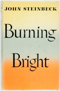 Books:Literature 1900-up, John Steinbeck. Burning Bright. New York: Viking Press,1950. First edition. Publisher's cloth and original dust jac...