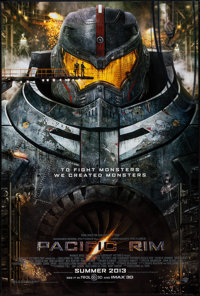 "Pacific Rim (Warner Brothers, 2013). One Sheet (27"" X 40"") DS Advance. Science Fiction"