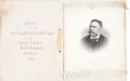Political:Ribbons & Badges, Chester Alan Arthur: Large Silk Ribbon Dinner Souvenir....