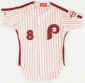 Baseball Collectibles:Uniforms, 1986 Juan Samuel Game Worn Philadelphia Phillies Jersey. ...