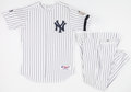 Baseball Collectibles:Uniforms, 2008 Hector Lopez Old Timers New York Yankees Jersey and Pants....