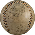 Autographs:Baseballs, 1915 Pittsburgh Pirates Team Signed Baseball with Honus Wagner....