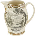 Antiques:Decorative Americana, Patriotic China: Map of the City of Washington Liverpool Jug....