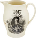 Antiques:Decorative Americana, Barbary Coast War: Commodore Preble Liverpool Jug....
