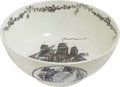 Political:3D & Other Display (pre-1896), George Washington: Impressive Liverpool Punch Bowl....