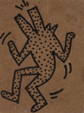 Post-War & Contemporary:Pop, KEITH HARING (American, 1958-1990). Untitled, 1982. Ink onboard. 6-1/8 x 4-5/8 inches (15.5 x 11.7 cm). ...