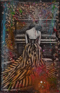 Post-War & Contemporary:Contemporary, RAPHAEL MAZZUCCO (Canadian, b. 1965). Piano Girl, 2014.Mixed media. 61 x 41-1/2 inches (154.9 x 105.4 cm). Signed lower...