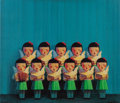 Post-War & Contemporary:Contemporary, LIU YE (Chinese, b. 1964). Untitled (Choir of Angels), 2001.Silkscreen on canvas. 23-1/2 x 27-1/2 inches (59.7 x 69.9 c...