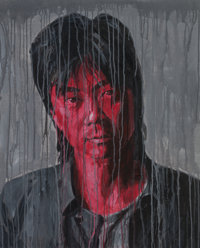 SHENG QI (Chinese, b. 1965) Portrait (Cui Jian), 2006 Acrylic on canvas 39-3/8 x 31-1/2 inches (1