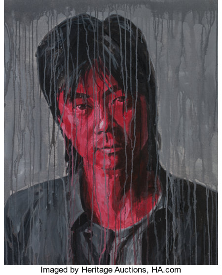 SHENG QI (Chinese, b. 1965) Portrait (Cui Jian), 2006 Acrylic on canvas 39-3/8 x 31-1/2 inches (100.0 x 80.0 cm) Sig...