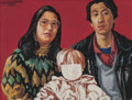 Post-War & Contemporary:Contemporary, WANG JINSONG (Chinese, b. 1963). One Child Policy Series, No.4, 1996. Oil on canvas. 15 x 19-1/2 inches (38.1 x 49.5 cm...
