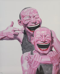 YUE MINJUN (Chinese, b. 1962) Smile-ism No.3 (Smiles Make the World Go Round), 2006 Lithograph 43