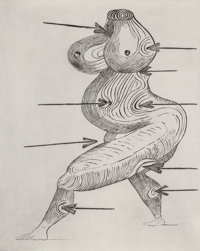 LOUISE BOURGEOIS (French, 1911-2010) Sainte Sebastienne, 1992 Drypoint on Somerset Satin paper 38