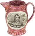 Antiques:Decorative Americana, War of 1812: Sunderland Luster Pitcher....