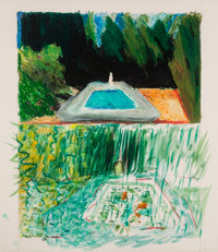 JENNIFER BARTLETT (American, b. 1941) In the Garden #113, 1980 Oil pastel and watercolor on paper