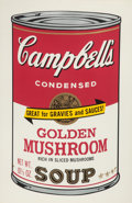 Post-War & Contemporary:Pop, ANDY WARHOL (American, 1928-1987). Golden Mushroom (fromCampbell's Soup II), 1969. Screenprint in colors. 35 x 23i...