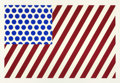 Prints, ROY LICHTENSTEIN (American, 1923-1997). Forms in Space, 1985. Screenprint in colors. 31 x 47-1/2 inches (78.7 x 120.7 cm...
