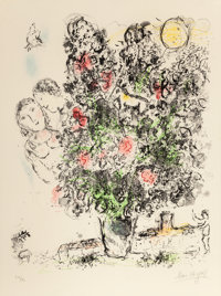 MARC CHAGALL (French/Russian, 1887-1985) The Light Bouquet, 1970 Lithograph in colors on Arches wove