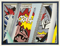 ROY LICHTENSTEIN (American, 1923-1997) Reflections on Crash (from the Reflections series), 1