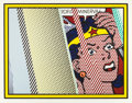 Prints, ROY LICHTENSTEIN (American, 1923-1997). Reflections on Minerva (from the Reflections series), 1990. Lithograph, ...