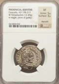 Ancients:Roman Provincial , Ancients: PHOENICIA. Berytus. Caracalla (AD 198-217). BILtetradrachm (15.13 gm)....