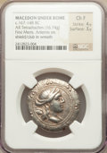 Ancients:Greek, Ancients: MACEDON. Under Roman Rule. First Meris (Province). Ca.167-149 BC. AR tetradrachm (16.74 gm)....