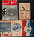 Autographs:Others, 1934-47 Signed & Unsigned Boston Red Sox & Brooklyn Dodgers Programs/Scorecards....