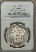 Morgan Dollars: , 1885-CC $1 -- Improperly Cleaned -- NGC Details. Unc. NGC Census: (20/9606). PCGS Population (46/19110). Mintage: 228,000. ...