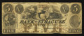 Obsoletes By State:New York, Syracuse, NY- Bank of Syracuse Spurious $5 Aug. 1, 1861. ...
