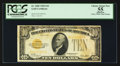 Small Size:Gold Certificates, Fr. 2400 $10 1928 Gold Certificate. PCGS Apparent Choice About New 55.. ...
