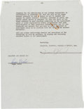 Baseball Collectibles:Others, 1962 Roger Maris Signed Endorsement Contract....