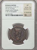 Ancients:Roman Imperial, Ancients: Germanicus (died AD 19). AE as (10.47 gm)....