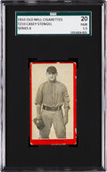 Baseball Cards:Singles (Pre-1930), 1910 T210 Old Mill Casey Stengel SGC 20 Fair 1.5 - A Newly Discovered Example! ...