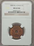 Belgian Congo, Belgian Congo: Belgian Colony copper Lot 1887-88,... (Total: 4coins)