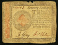 Colonial Notes:Continental Congress Issues, Continental Currency January 14, 1779 $70 Very Fine.. ...