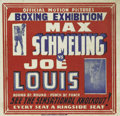 Boxing Collectibles:Memorabilia, 1936 Louis vs. Schmeling Film Reel Movie Poster. While most white Americans had changed their tunes by the time of the famo...