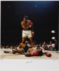 Boxing Collectibles:Autographs, Ali-Liston II Photograph by Neil Leifer, Signed by Ali. In 1992,noted photographer Neil Liefer and noted author Thomas Haus...