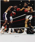 Boxing Collectibles:Autographs, Ali-Frazier III Photograph by Neil Leifer, Signed by Ali. In 1992,noted photographer Neil Liefer and noted author Thomas Ha...