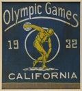 Miscellaneous Collectibles, 1932 Los Angeles Summer Olympics Flag. Fantastically preservedbanner once welcomed spectators to the famed 1932 Olympic Ga...